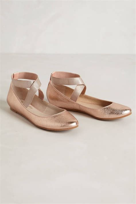 pointe shoe inspired flats gold flats i m in wish list
