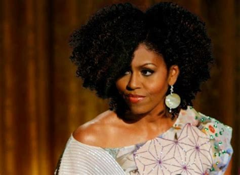 lady afro hair styles michelle obama rocks an afro