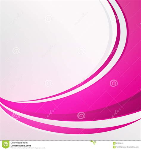 background design vector format bending full pink color abstract on white background stock