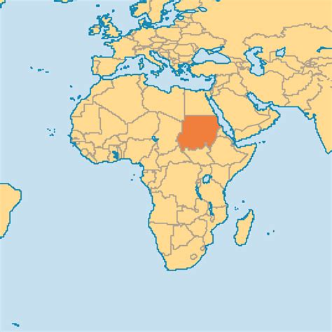 where is sudan on the world map sudan on the world map