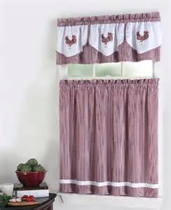 Kitchen Curtains Shop Click To Buy Rooster Kitchen Curtains Rooster 3 Tier And Valance Set Check From
