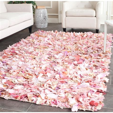 pink rugs safavieh shag ivory pink 4 ft x 6 ft area rug sg951p