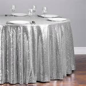 116 in round sequin tablecloth silver for weddings linentablecloth