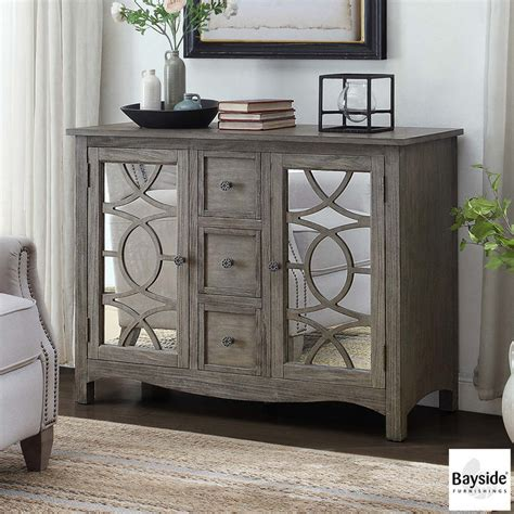 bayside furnishings accent cabinet bayside furnishings mirrored accent cabinet costco uk