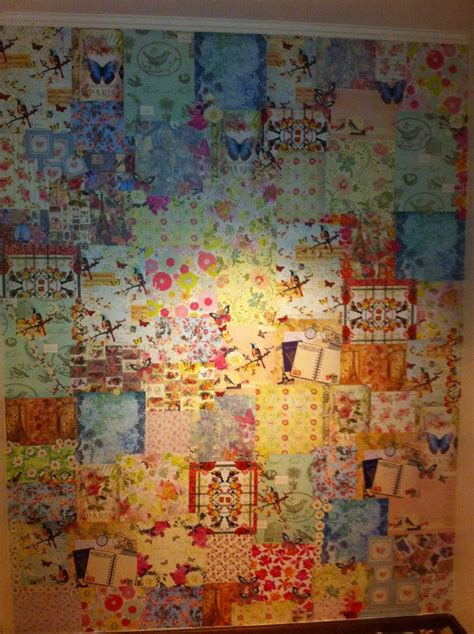 decoupage wall ideas decoupage wall paperwall