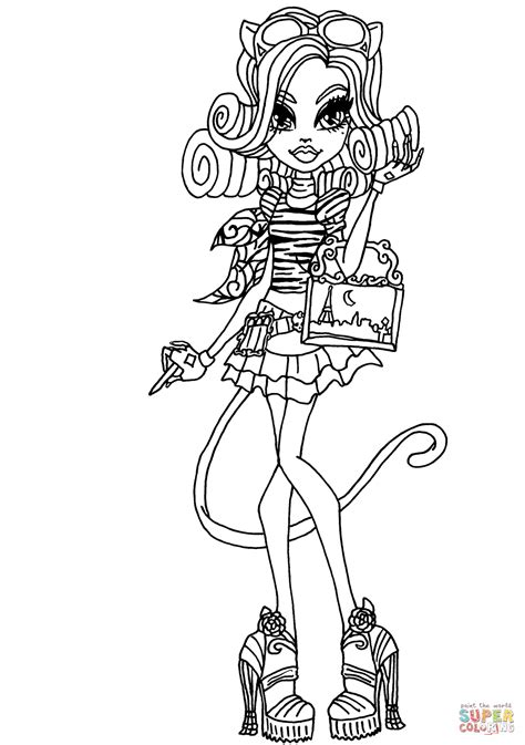 monster high coloring pages catrine demew catherine demew coloring page free printable coloring pages
