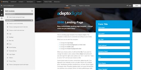 hubspot templates the 20 80 hubspot landing page template adepto digital