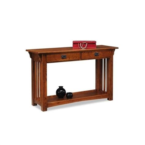 leick mission console table leick furniture mission console table with drawers and