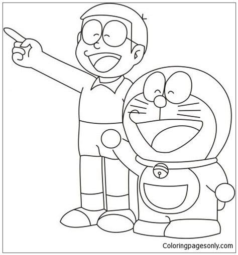 101 coloring pages doraemon doraemon and nobita coloring page free coloring pages online