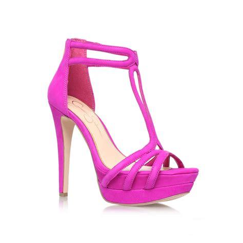purple high heel sandals salvati high heel sandals in purple lyst