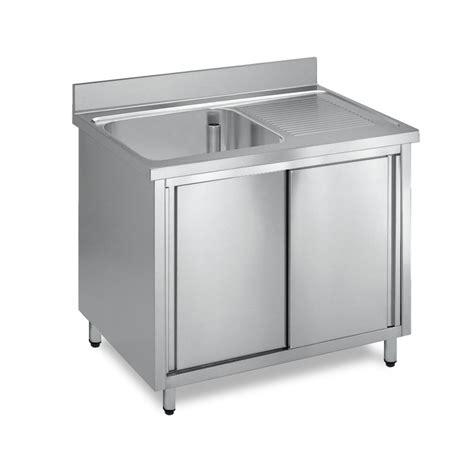 lavello inox lavatoio acciaio inox armadiato 1 vasca gocciolatoio dx
