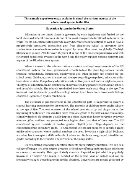 Expository Essay Exles For by Bizdoska Page 416 Resume Format For Mca Student Expository Essay Exles Sle