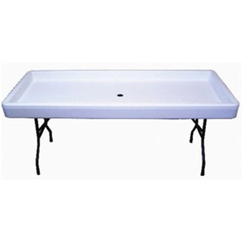 chillin products fill n chill table white grand