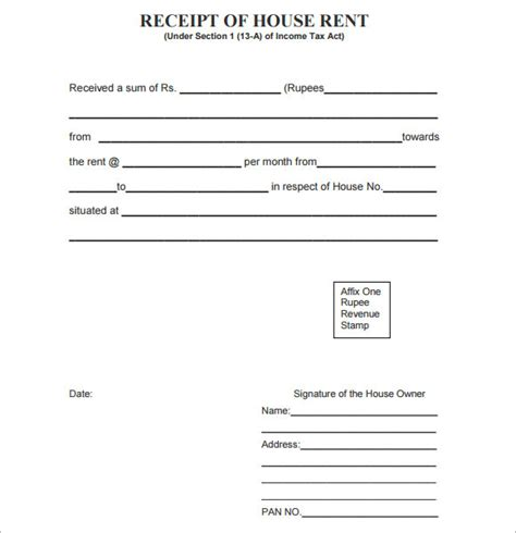 printable receipt template free rent receipt flashfreedom