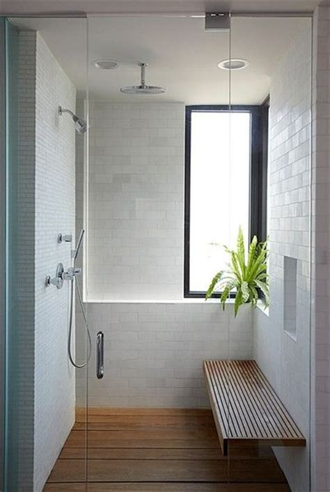 tile shower bench ideas white tile shower with wooden bench bath ideas juxtapost