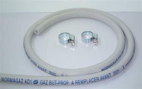 tuyau gaz 6x12 1 50m avec 2 colliers