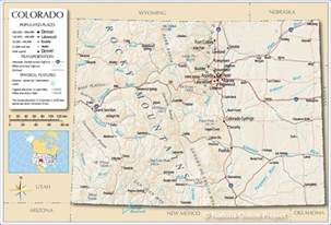 state colorado map reference map of colorado usa nations project