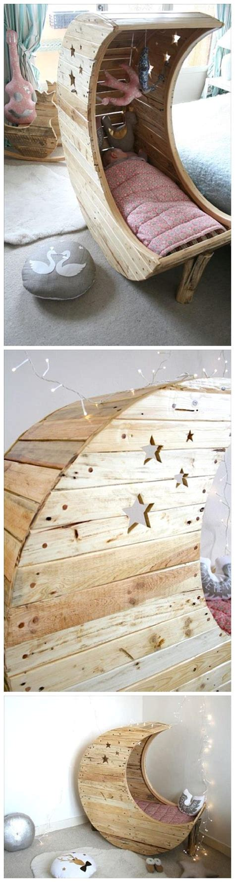 Diy Moon Shaped Cradle 1 - diy pallet projects the best reclaimed wood upcycle ideas