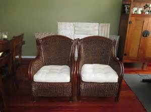 two pier one king wicker chairs orleans ottawa