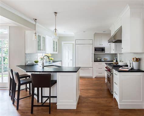 Kitchen Islands With Granite Tops Angled Kitchen Peninsula Design Ideas