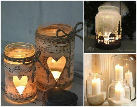candele vetro barattoli con candele ri49 pineglen