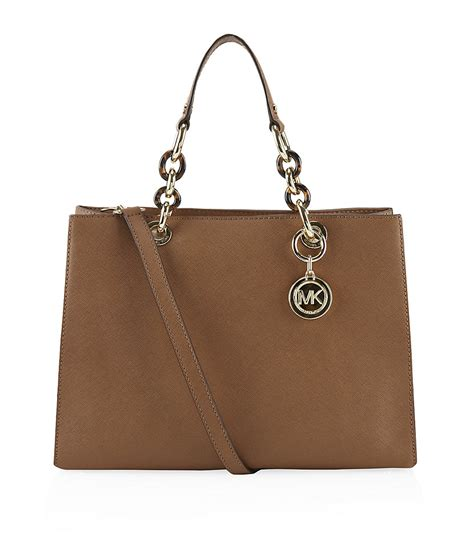 M Hael Kors Cynthia michael michael kors cynthia medium satchel in brown lyst