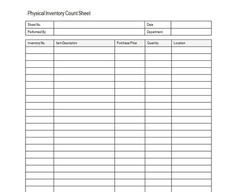 property inventory template free inventory sheet sle free inventory template estate sale
