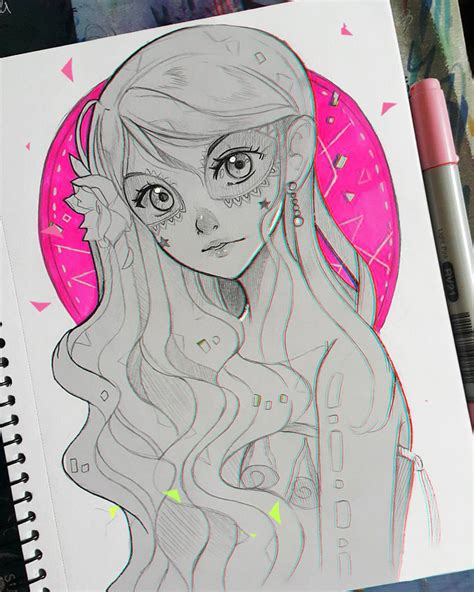 Anime Girl Day Day Of The Dead By Larienne On Deviantart