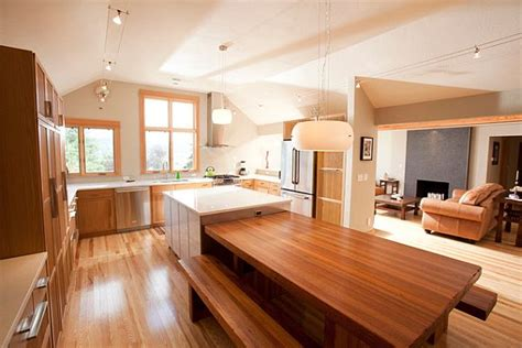 Kitchen Island Breakfast Table Kitchen Island With Breakfast Bar And Table Decoist