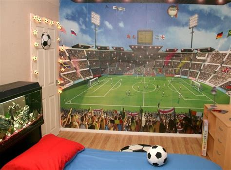 Football Murals For Bedrooms by Football Mural Wallpaper And Football Stadium Wallpaper