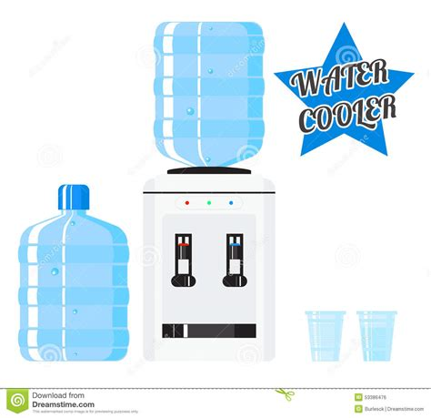 Water Dispenser Vector vector water cooler stock vector image 53386476