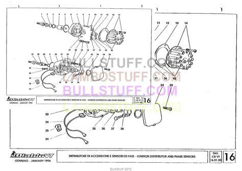 how to remove sensor abs 1994 lamborghini diablo 1994 lamborghini diablo vt usa ignition distributor and phase sensors 16 01 00