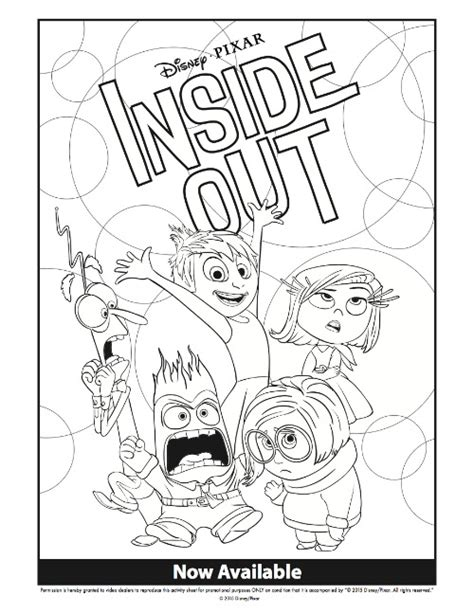 coloring pages for inside out the movie disney inside out coloring pages activity sheets for