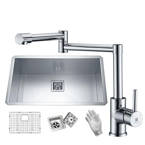 european kitchen sinks stainless steel anzzi vanguard series undermount stainless steel 32 in 0