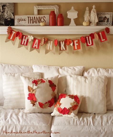 Handmade Thanksgiving Decorations - diy thanksgiving decor handmade in the heartland