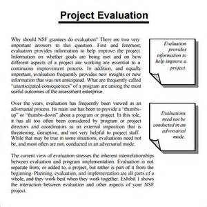 Project Evaluation Letter Project Evaluation 8 Free Documents In Pdf