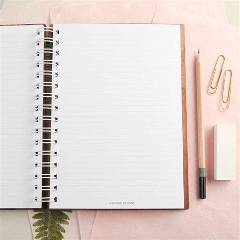 Wedding Notebook by Personalised Walnut Wedding Notebook Planner By Oakdene