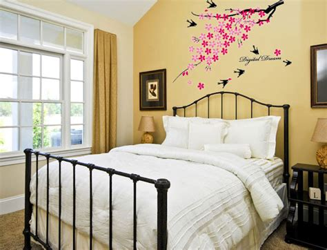 wall art for bedroom ideas creative bedroom wall art sticker ideas