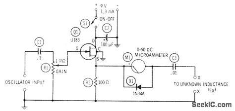 inductance meter circuit diagram inductance meter measuring and test circuit circuit diagram seekic