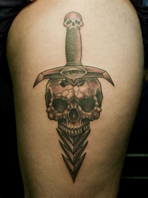 skull dagger tattoo design 2 tattoos book 65 000