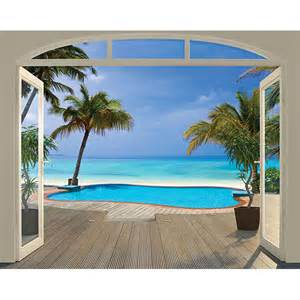paradise beach wall mural walltastic murals tropical beach paradise wall mural