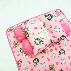 Bedset Bayi Cloud Biru eksklusif kado bayi baby bedding set 4in1 matras perlak set bantal peang plus 2 guling motif