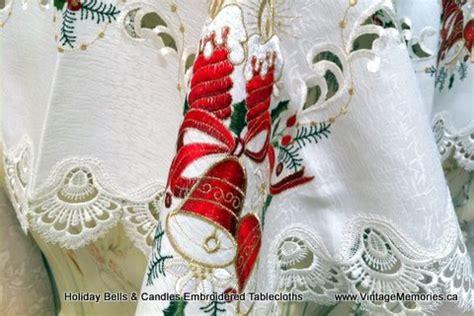 vintage memories christmas tablecloth