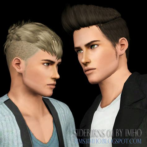download hair male the sims 3 simutile imho sims 3 sideburns 01 by imho
