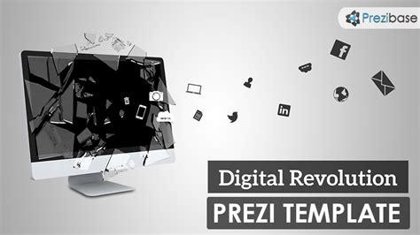 Digital Revolution Prezi Template Prezibase Prezi Newspaper Template