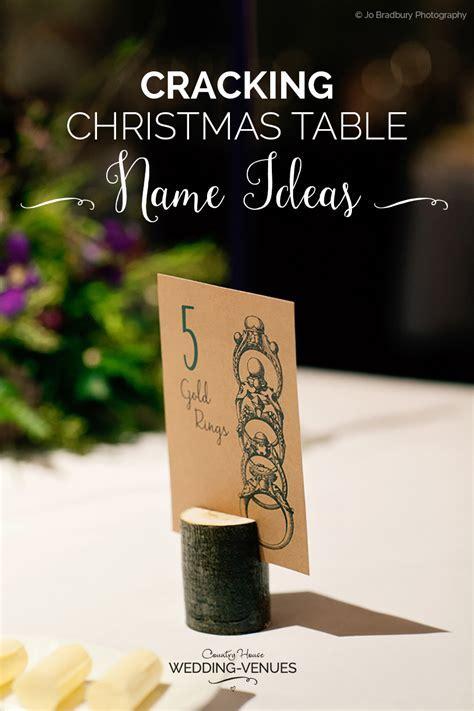 Cracking Christmas Table Name Ideas   CHWV