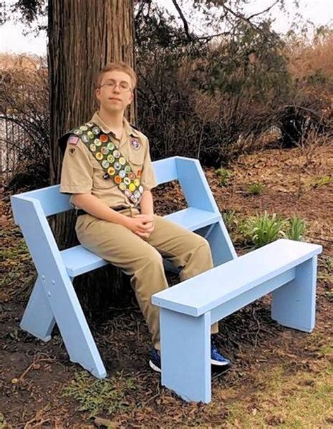 boy scout bench plans scout builds leopold style bench for west chicago garden