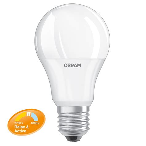 Lu Led Osram 100 Watt osram led relax active classic a 60 e27 8 watt wie 60
