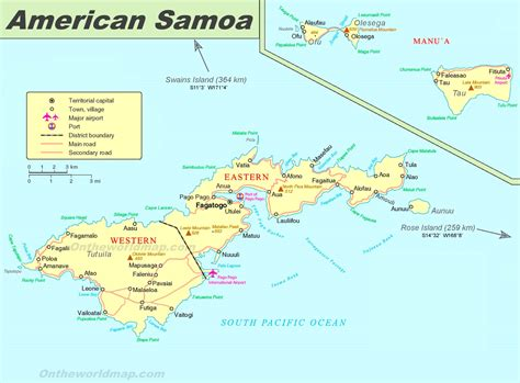 map of american samoa islands large detailed map of american samoa
