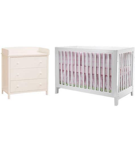 White Crib And Dresser by Sb2 2 Nursery Set In White Crib Simple 3
